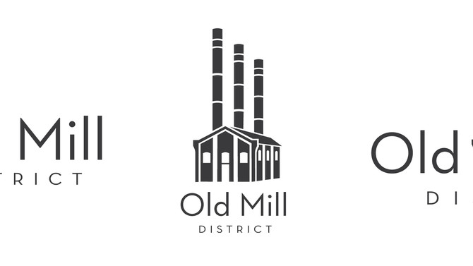 Redesign of the Old Mill District logo & print
