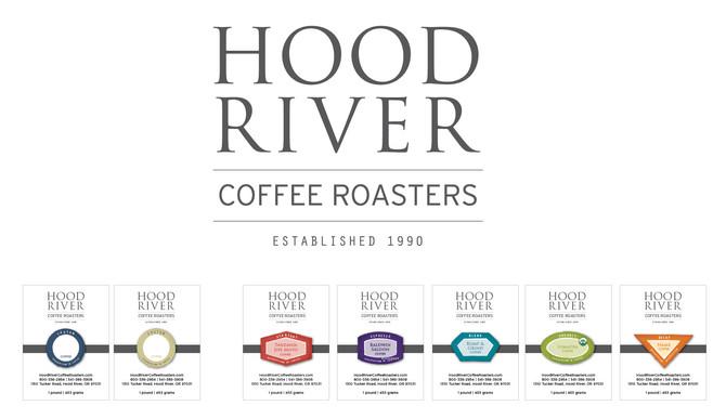 NEW Hood River Coffee Roasters logo design