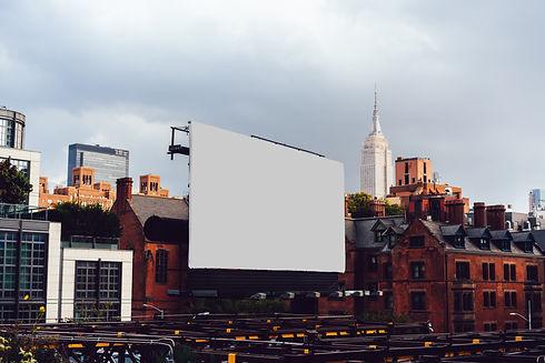 Publicity mock up billboard on exterior