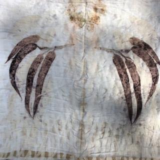 Eucalypt Print on Linen