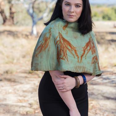 Eucalypt Printed Blanket Shrug