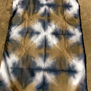 Shibori Walnut and Eucalpt Dyes