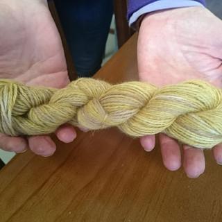 Onion Skin Dyed Alpaca Yarn