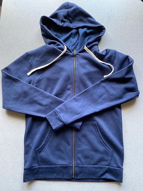 Blank Blue Hooded Sweatshirt
