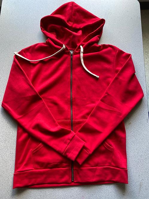 Blank Red Hooded  Sweatshirt