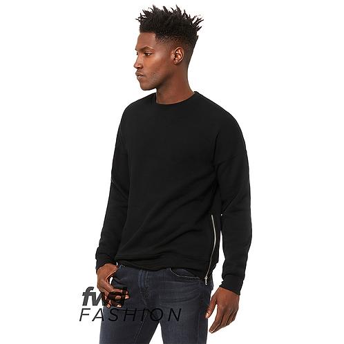 Black SweatShirt Side Zip