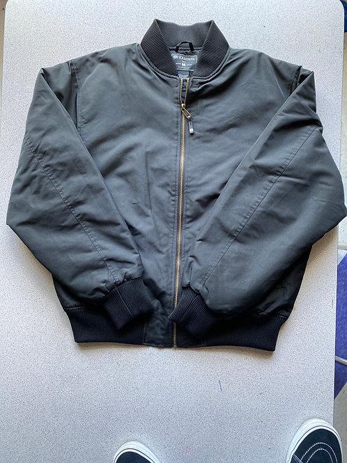 Black flight jacket