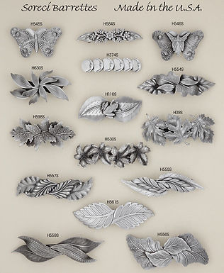 French Pewter Hair Clips from BPS/Soreci Designs