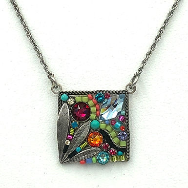 Luxe Leaf Square Large Necklace