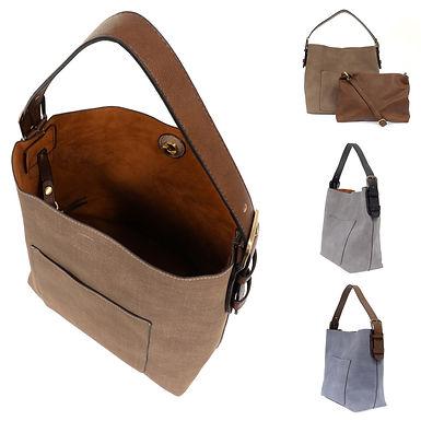 Faux Linen Hobo Handbag by Joy Susan