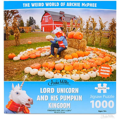Lord Unicorn and His Pumpkin Kingdom 1000 pc. Puzzle