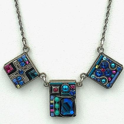Geometric Triple Pendant Necklace