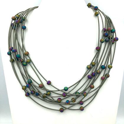 Multi-strand Geode Necklace