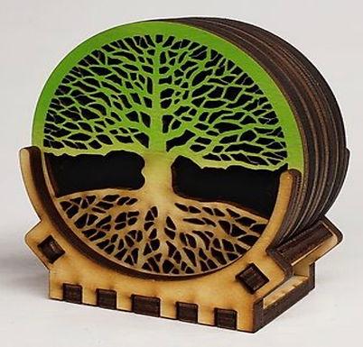 Lasercut Wooden Coasters
