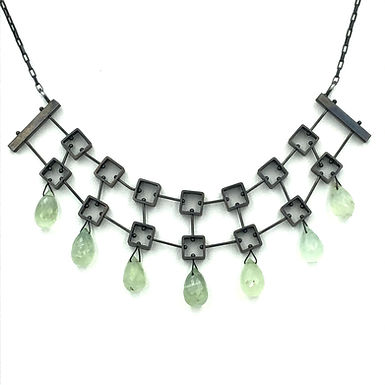 Multi Square Necklace with Teardrops