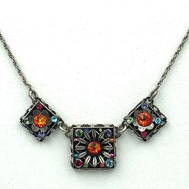 Triple Square Flower Necklace