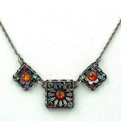 Triple Square Flower Necklace