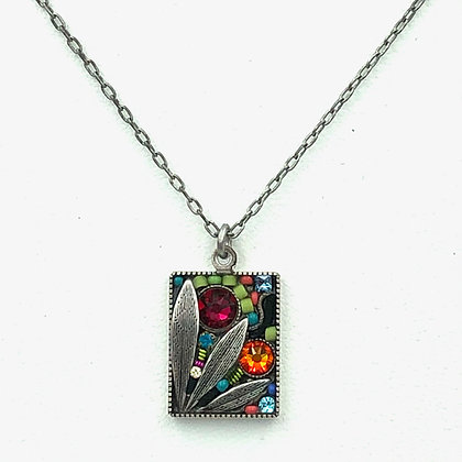 Luxe Leaf Rectangle Necklace