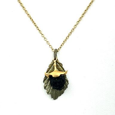 Blackberry Leaf Necklace