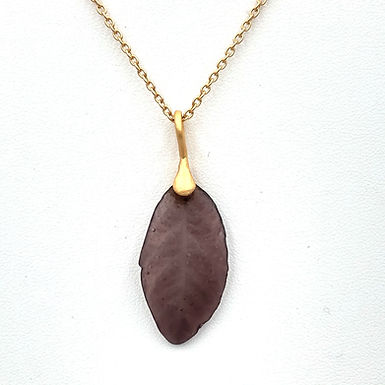 Purple Leaf Necklace