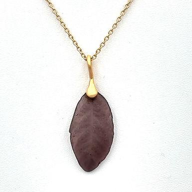 Purple Leaf Necklace