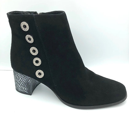 Suede Button Boot by Maciejka
