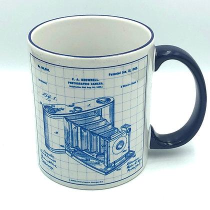 Vintage Camera Blueprint Mug