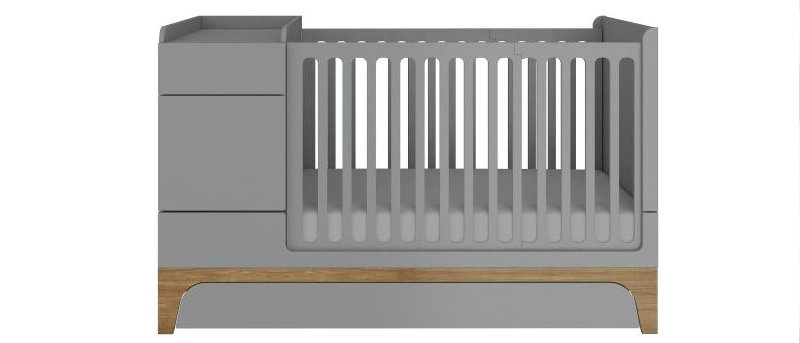 Lit bébé évolutif UP! gris
