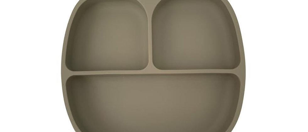 Assiette 3 compartiments silicone sauge