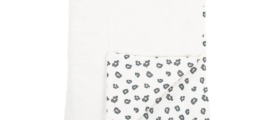 Couverture 80x100 léopard & blanc