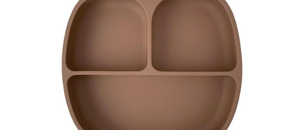 Assiette 3 compartiments silicone camel