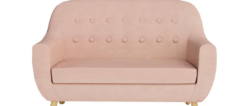 Sofa mini velour rose