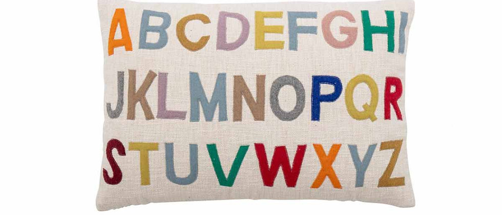Coussin Lexi, multicolore, coton