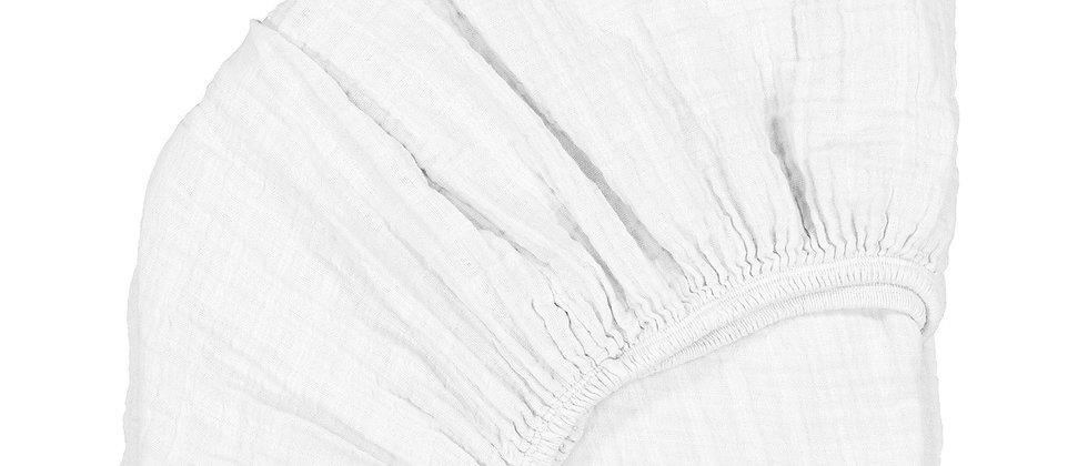 Draps housse White pour berceau KUMI