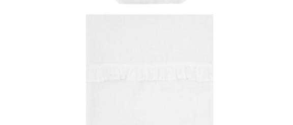 Couverture et oreiller garnis lin blanc