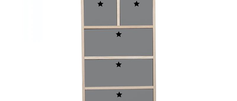 Colonne étoiles gris