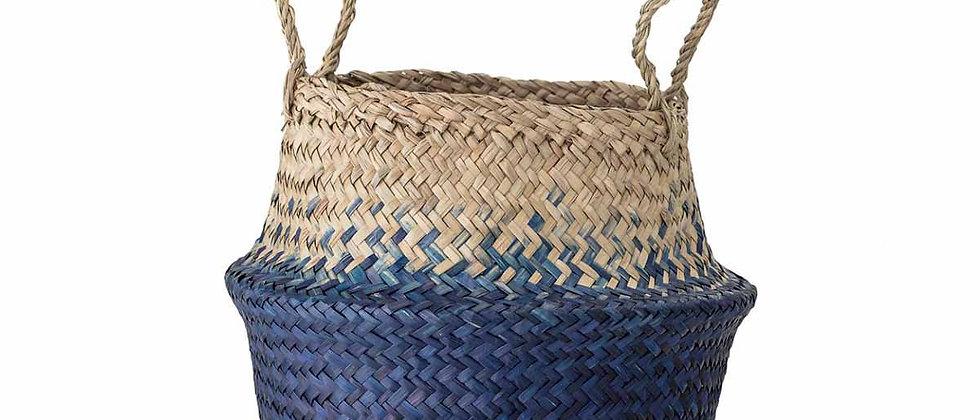 Kiafillippa Basket, Blue, Seagrass