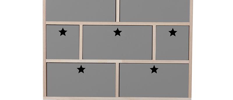 Commode étoiles gris