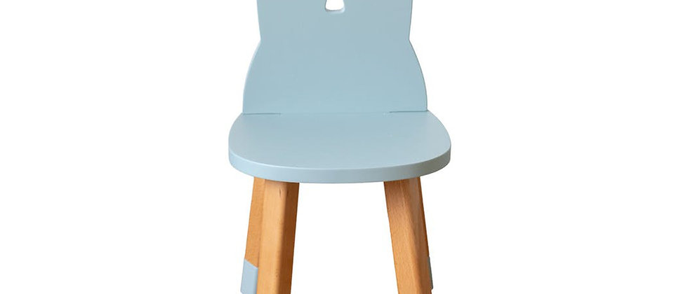 Chaise lapin bleu