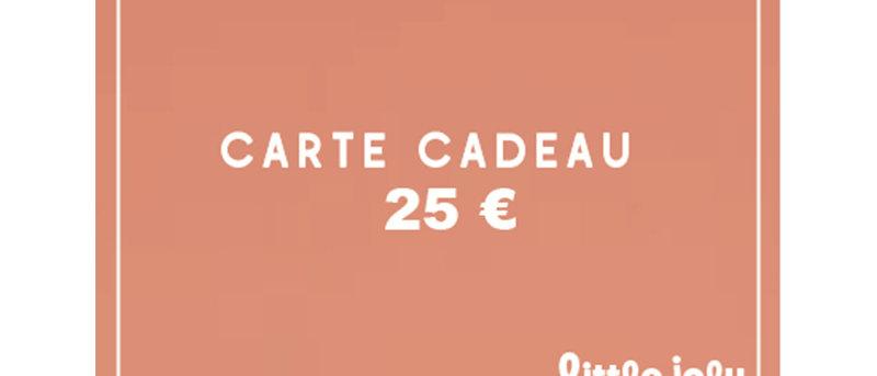 ECarte cadeau 25 euros