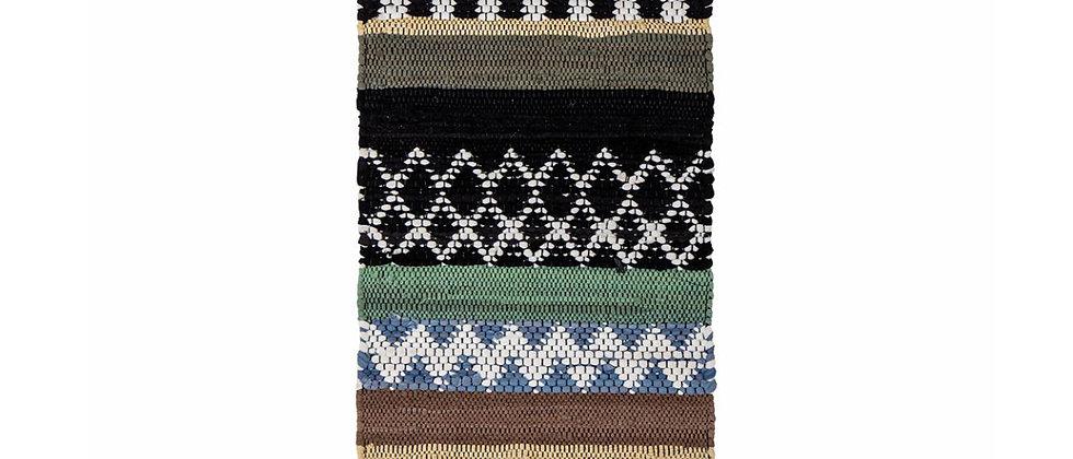 Huxi Rug, Green, Cotton