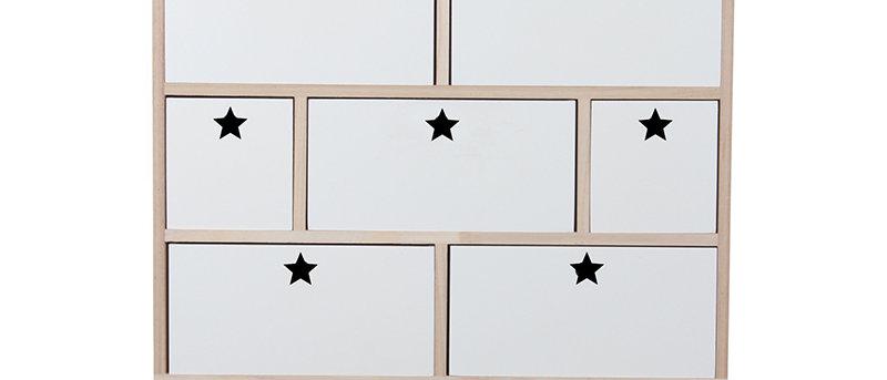 Commode étoiles blanc
