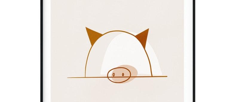 Affiche Cochon