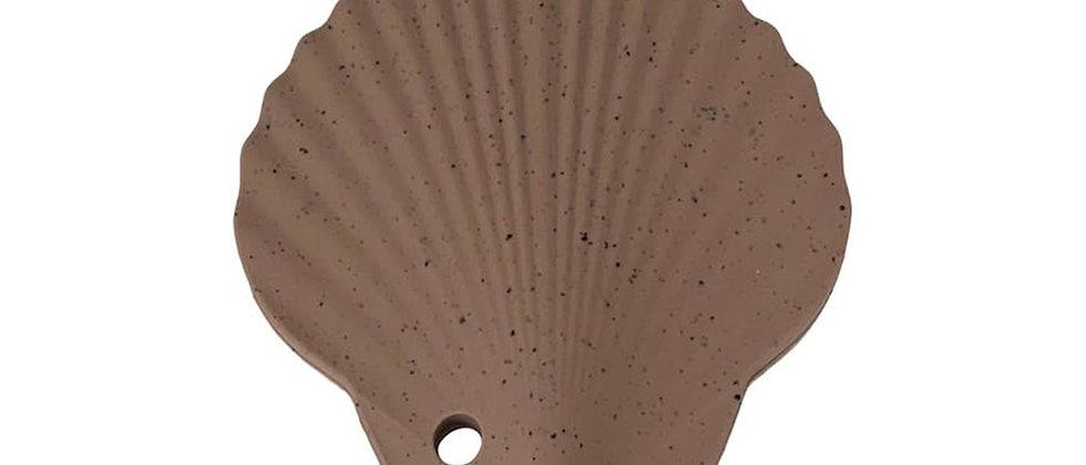 Hochet dentition coquillage brun