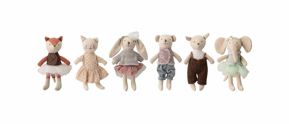 Animal friends Soft Toy, Rose, Cotton