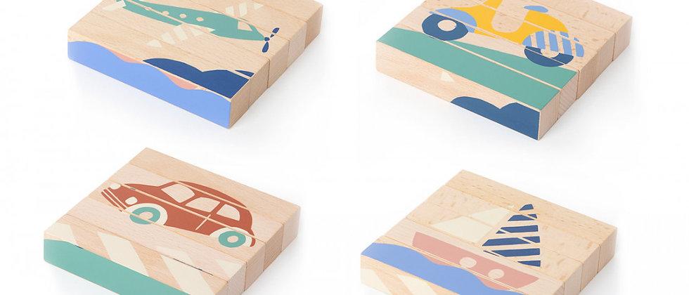 Blocs en bois Transports