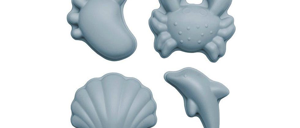 Moules silicone bleu gris SCRUNCH