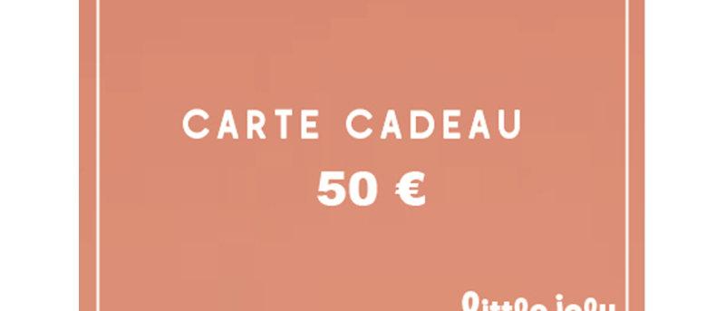 ECarte cadeau 50 euros