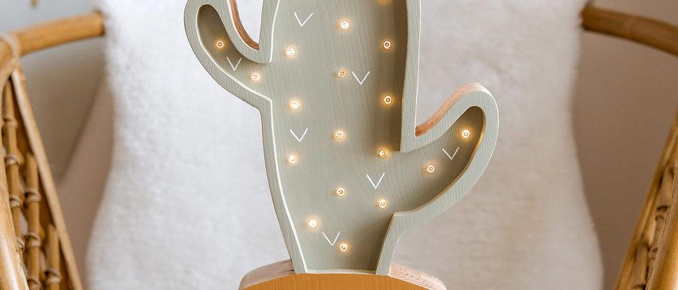 Lampe bois Cactus