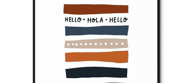 Affiche Hello